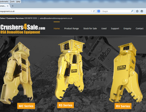New Website Lauched for OSA Demolition Equipment UK