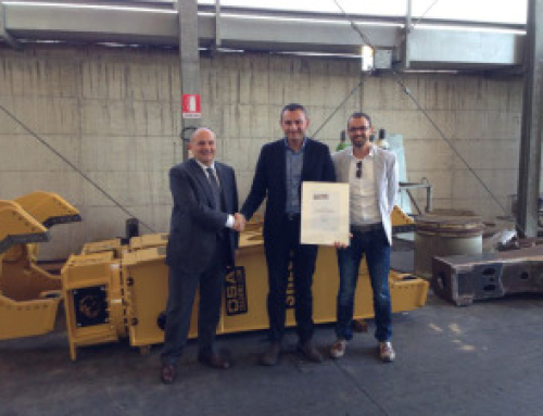 OSA DEMOLITION EQUIPMENT earns the right to display HARDOX in MY BODY certification on its attachments
